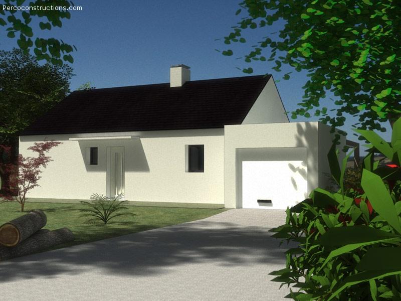 Maison Kersaint plabennec plain pied 3 chambres - 183 396 €