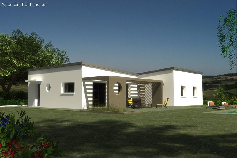 Maison PENCRAN plain pied contemporain 4 CH - 238 991 €
