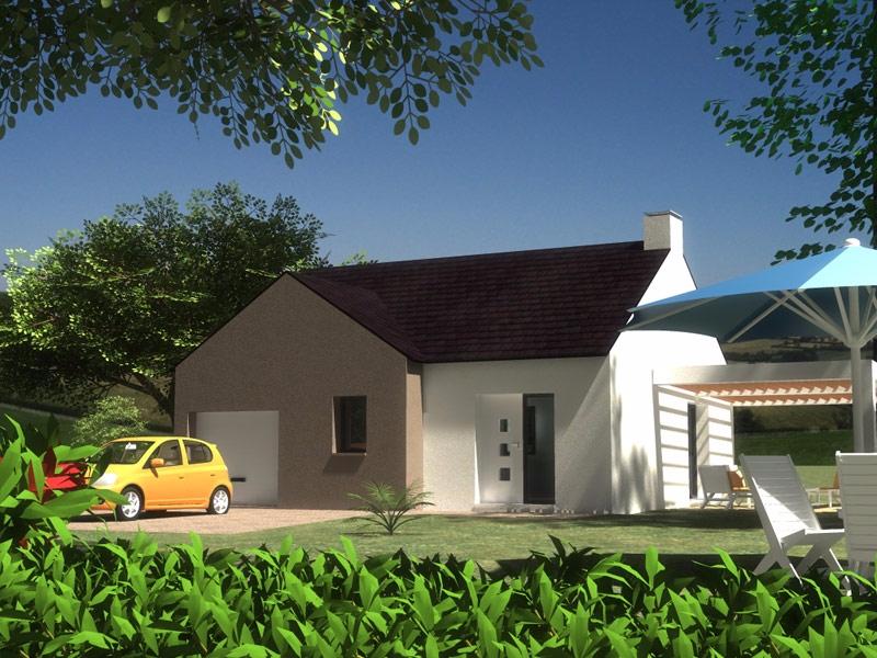 Maison Cléden-Poher plain pied 2 chambres - 121 385 €