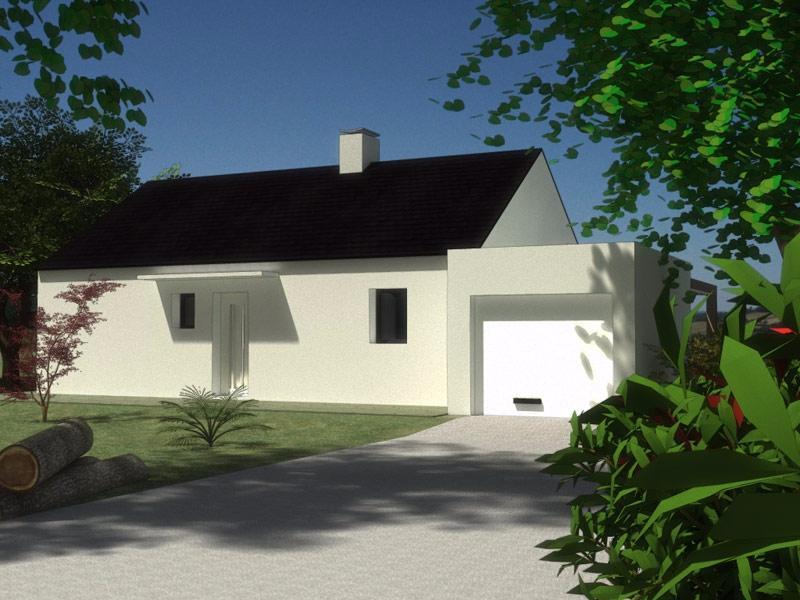 Maison Cléden-Poher plain pied 3 chambres - 130 914 €