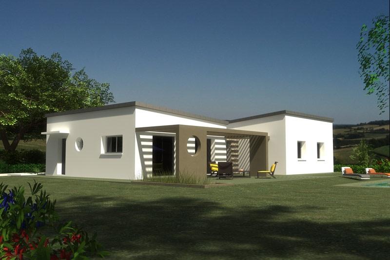 Maison Plougoulm plain pied contemporaine 4 chambres
