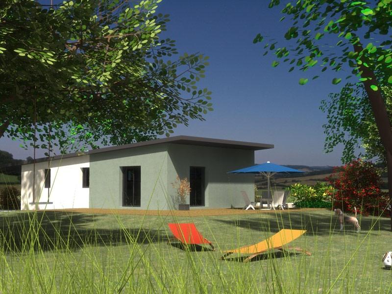 Maison de plain pied moderne à L'Hopital Camfrout à 178 918€